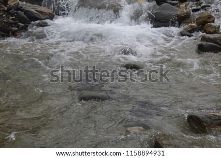 waterfall of hunza valley #1158894931