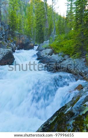 Waterfall on Cascade Creek in Grand Teton National