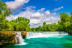 Waterfall On The River Manavgat, Turkey