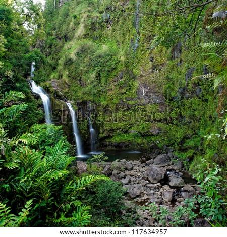 Waterfall on the road to Hana, Maui, Hawai'i