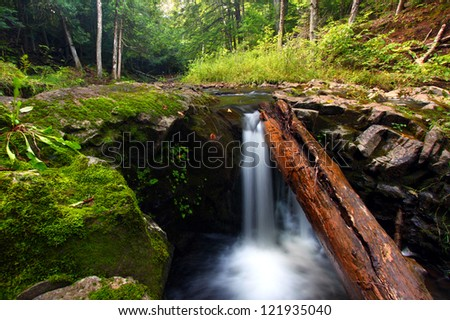 Waterfall on the Union River in Porcupine Mountains Wilderness State Park