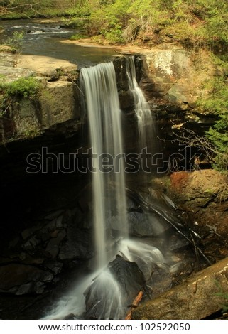 waterfall over ledge