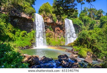 Waterfall pool landscape