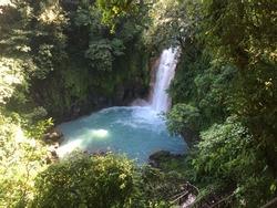 Waterfall Rio celeste at Zenith Costa Rica