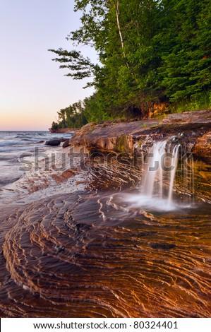 Waterfall. Taken at Pictured Rock National Lakeshore, Michigan, USA.