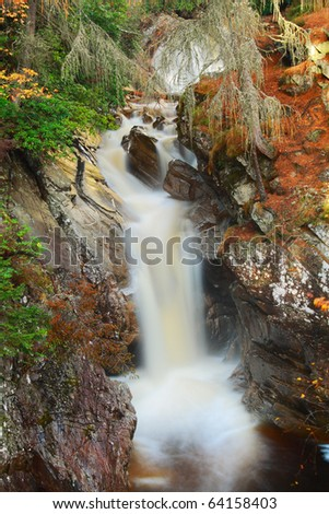 Waterfall -  The Falls of Bruar, Highlands of Scotland.