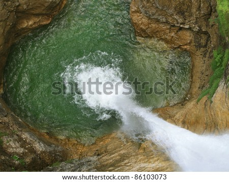 waterfall view from above