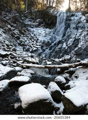 Waterfall, wild taiga, Primorye, Russia