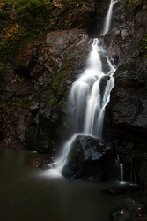 Waterfalls at Autumn, in Yalova City Forest / Turkey. Long exposure with tripod