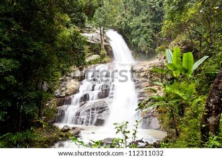 waterfalls at doi inthanon, chiang mai, thailand