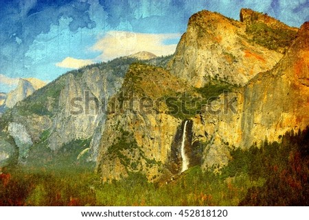 Waterfalls at the Yosemite National Park