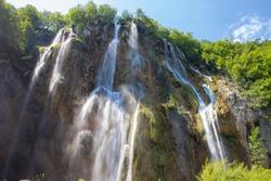 Waterfalls in the Plitvice lakes National Park, Croatia