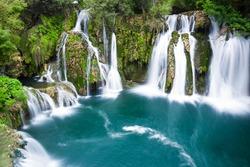 Waterfalls of Martin Brod on Una national park, Bosnia and Herzegovina