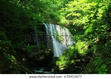 Waterfalls of summer clothing #670452877