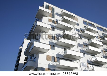Waterfront apartment building Odense Denmark.