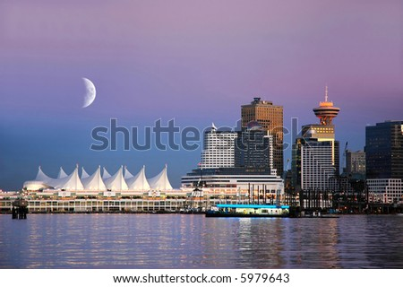 Waterfront at Canada Place, Vancouver, BC, Canada - stock photo
