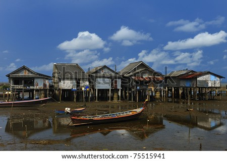 Waterfront home.Trang province, south of Thailand.