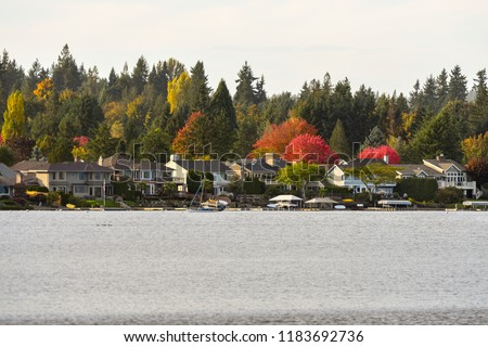 Waterfront homes in Lake Sammamish, Washington-USA #1183692736