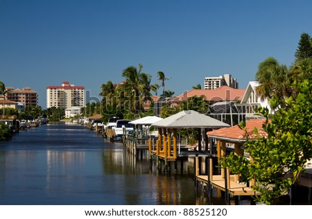 Waterfront homes in Naples, Florida