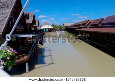 Waterfront house in Thailand Waterfront house Waterfront Restaurant in Thailand #1242795838