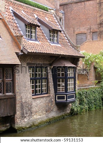 waterfront houses in Bruges