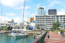 waterfront in Auckland city, new zealand