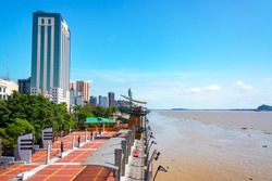 Waterfront in Guayaquil, the largest city in Ecuador