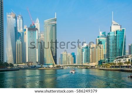 Waterfront of the Dubai marina, UAE #586249379