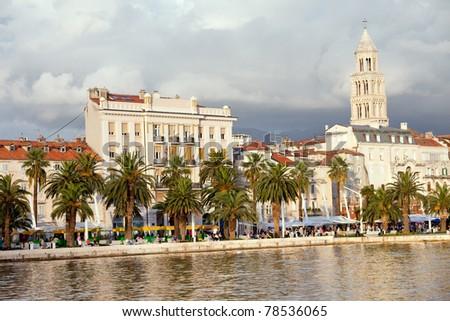 Waterfront scenery in Split, Croatia, Dalmatia County