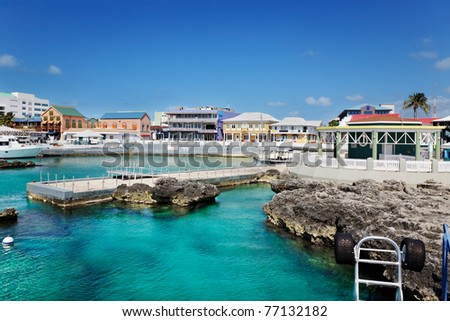 Waterfront shopping area in Georgetown, Grand Cayman