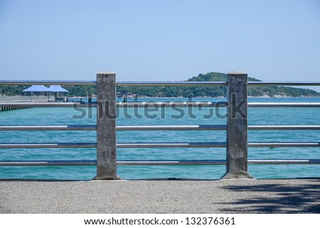 waterfront sidewalk and pier