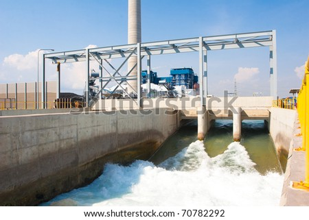 Watergate draining clean water to the river after passed wastewater treatment systems