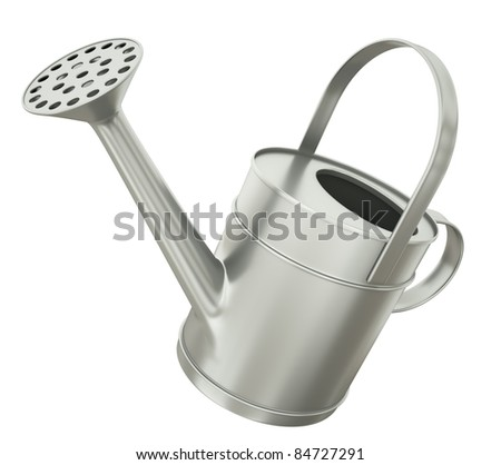 Watering can isolated on white background. 3D render.
