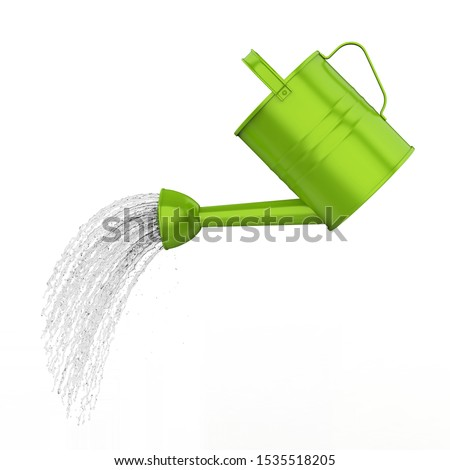 Watering Can Pouring Water Isolated. 3D rendering Foto stock ©