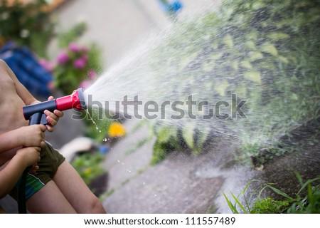 Watering children
