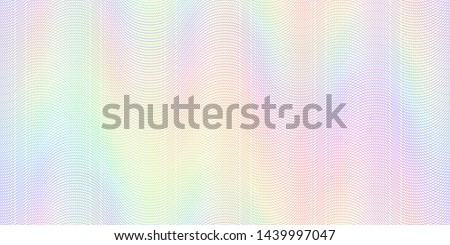 Watermark banknote pattern. Banknotes check guilloche lines texture, secure waves patterns and passport paper. Currency banknote guilloche, security certificate watermark  background