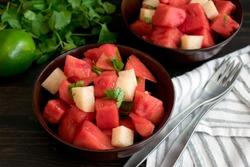 Watermelon and Jicama Fruit Salad