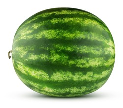 watermelon isolated on a white background with clipping path