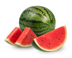 Watermelon isolated on white background, Watermelon on a white background With clipping path