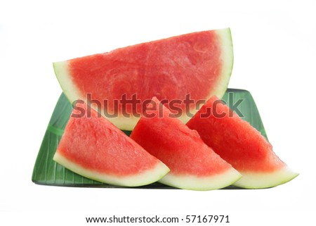 watermelon slice is delicious when eaten thirst