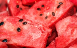watermelon slices close-up background
