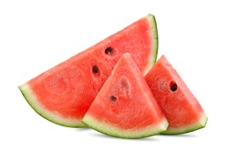 Watermelon slices isolated on a white background.