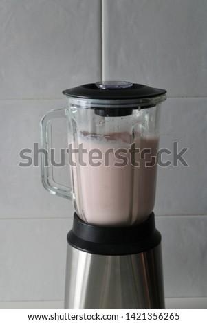 Watermelon smoothie in healthy blender #1421356265