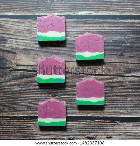 watermelon soaps. cold process handmade soap.