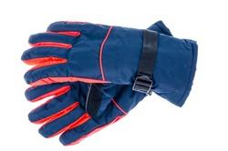 Waterproof gloves for winter sport. Studio Photo
