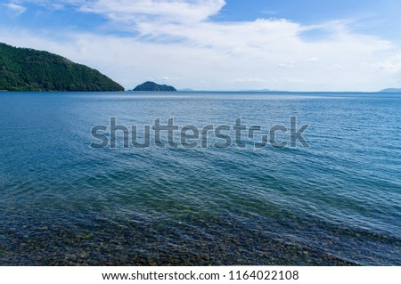 Stock Photo Waterscape of northern Biwa lake in Shiga, Japan