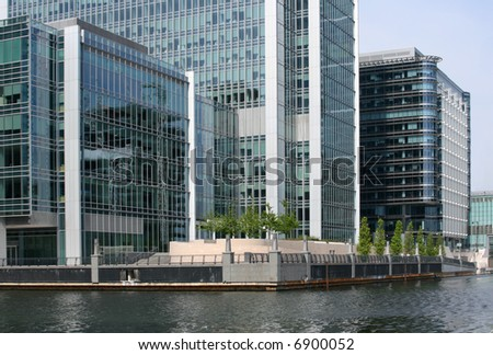 Waterside offices at Canary Wharf London