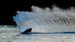 waterski on a lake