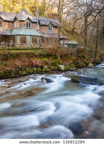Watersmeet House at Watersmeet on the edge of Exmoor Devon England UK