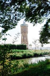 Watertower in Zwijndrecht the Netherlands